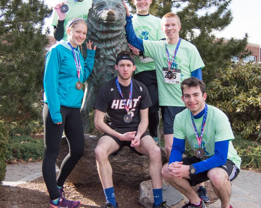husky statue medalists